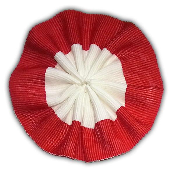 Bardzo dobry rozeta biało-czerwona do spięcia szarfy EKON STUDIO Sklep z flagami BJ08