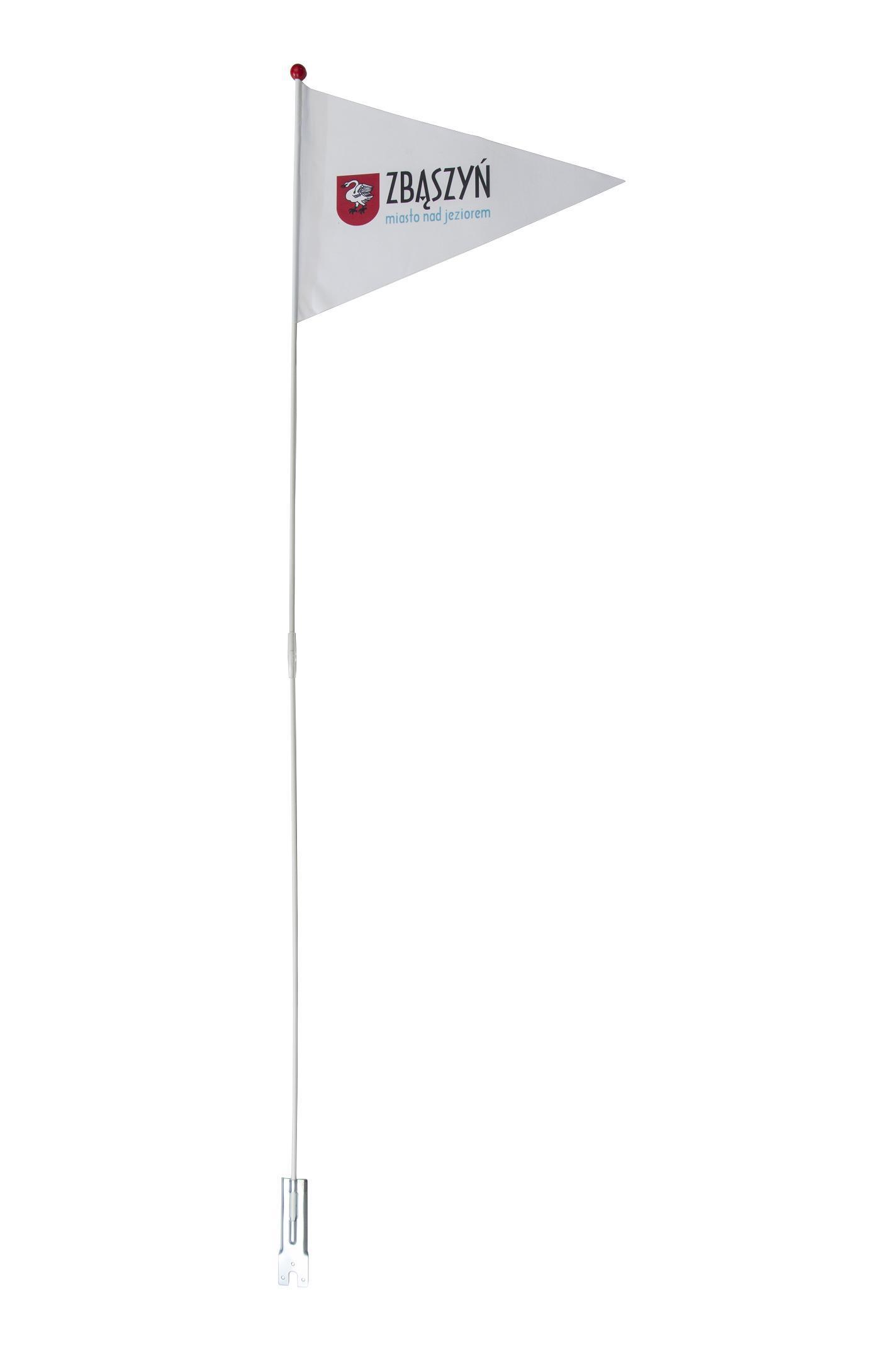 Bardzo dobra FLAGA NA ROWER Z DOWOLNYM NADRUKIEM Flaga rowerowa EKON STUDIO CT15