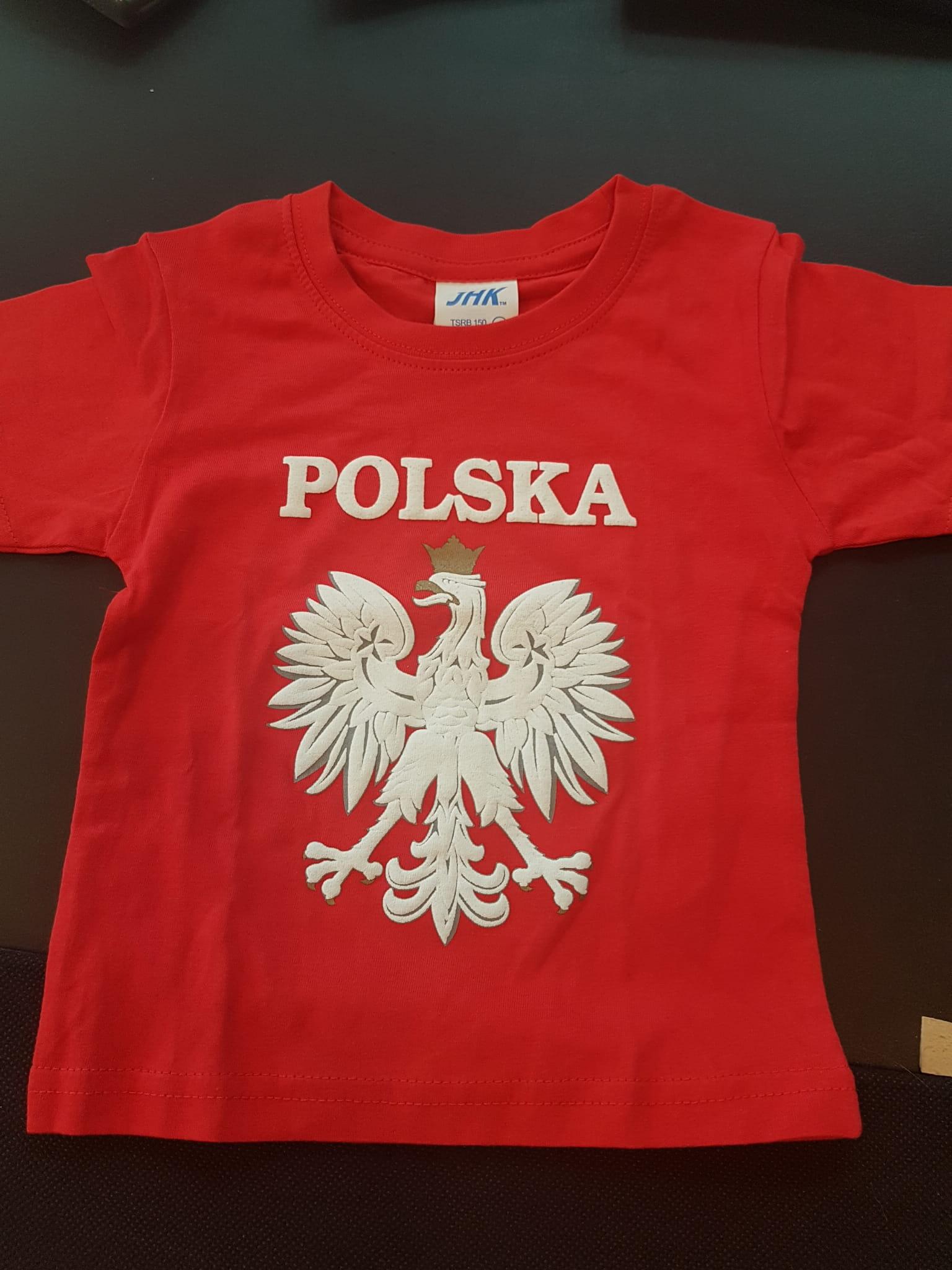 9ab806f2c857 Koszulka Polska z godłem - dla dzieci EKON STUDIO Sklep z flagami